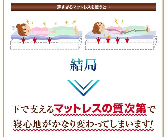 マットレスの質次第で寝心地がかなり変わる